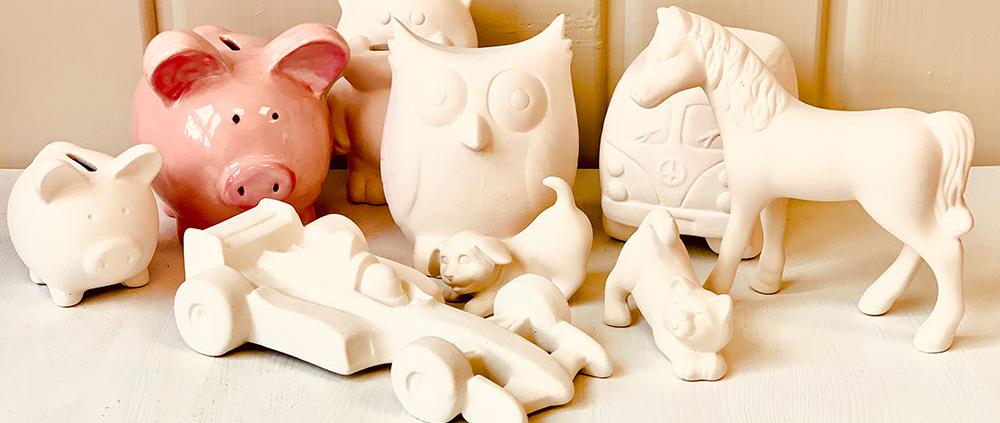 Keramik Spardosen und Figuren